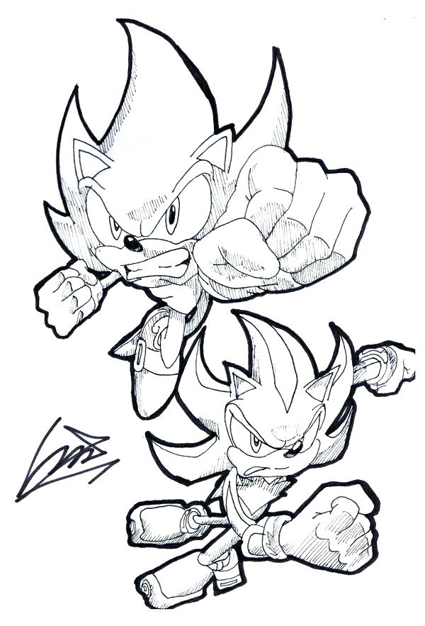 super sonic coloring pages # 24