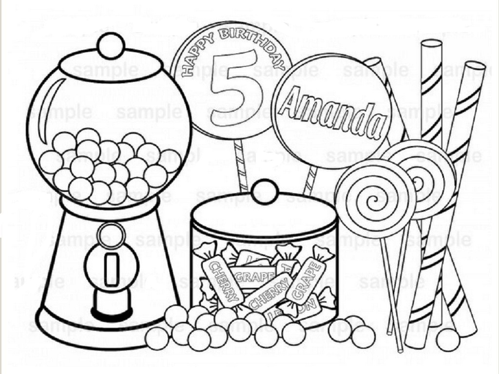 New Candyland Gingerbread Man Coloring Page