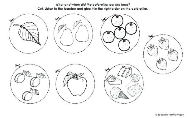 the very hungry caterpillar coloring pages # 53