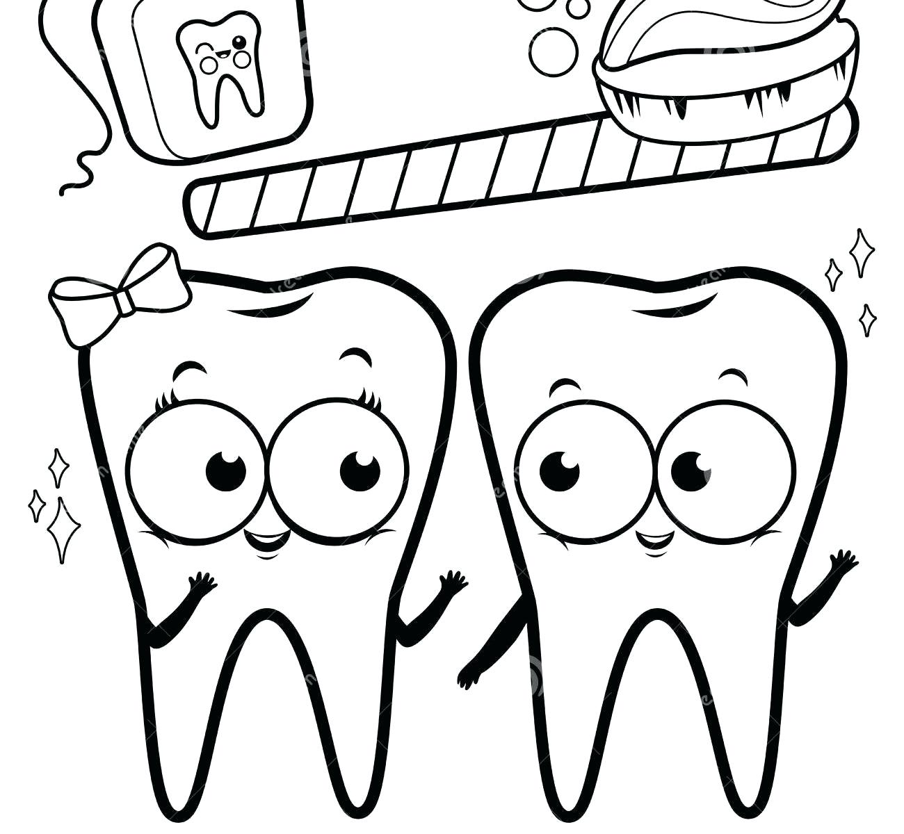 The Best Free Tooth Coloring Page Images Download From