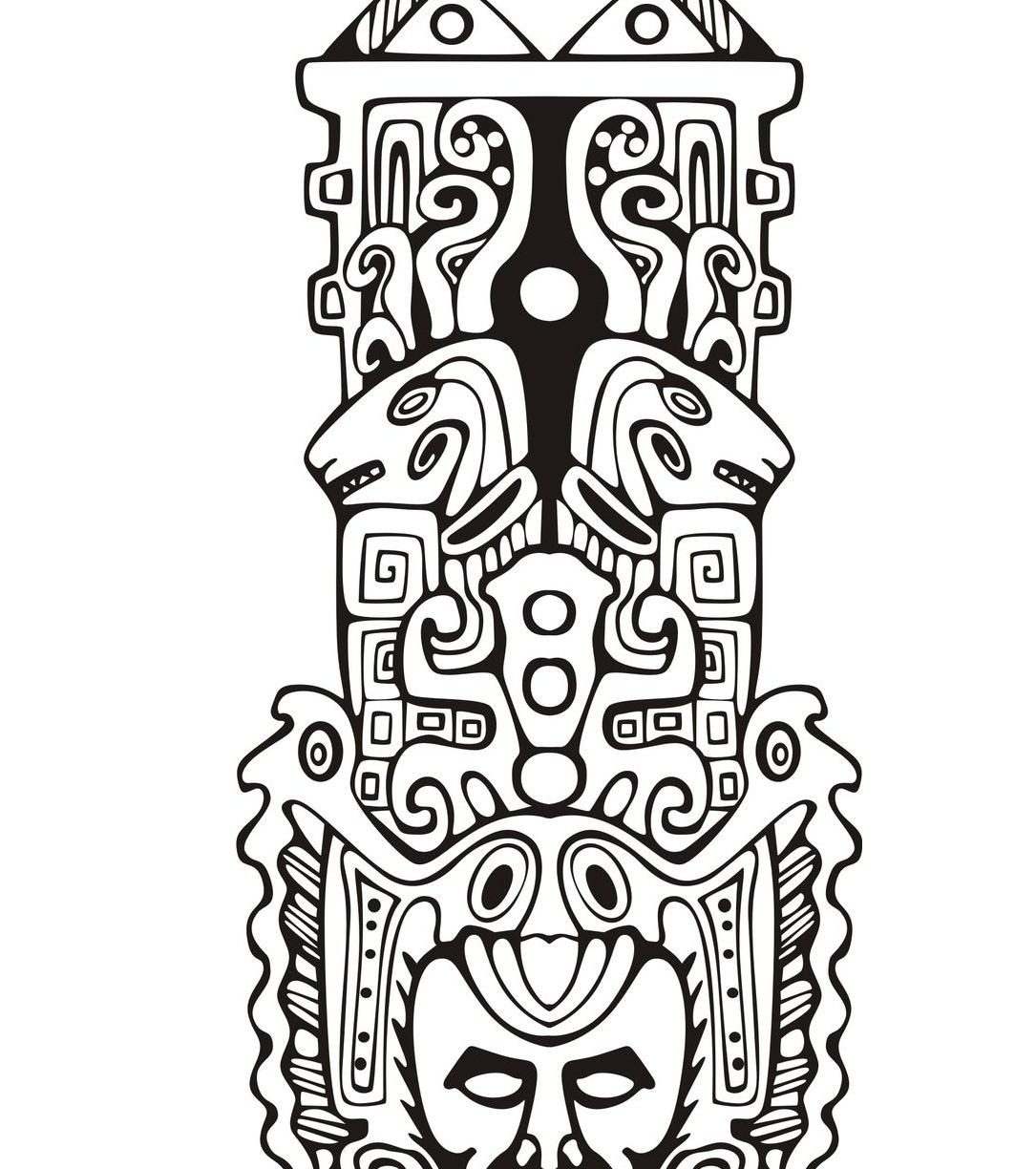The Best Free Totem Coloring Page Images Download From