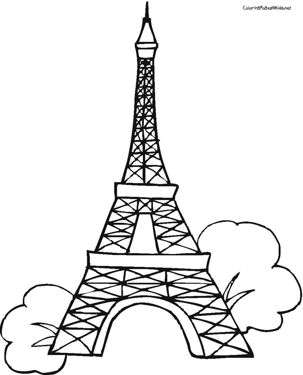 eiffel tower coloring pages # 27