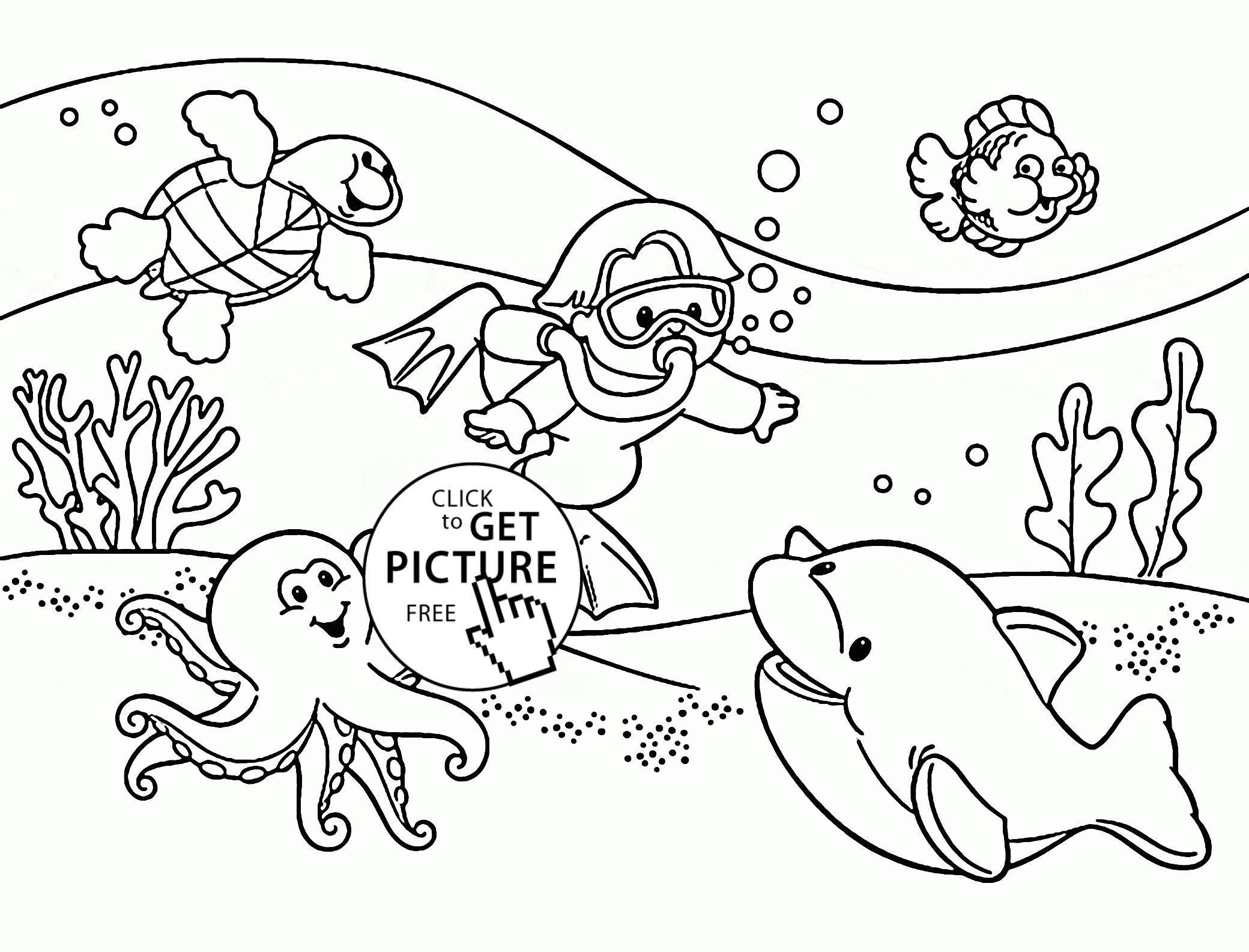 Underwater Plants Coloring Pages At Getdrawings
