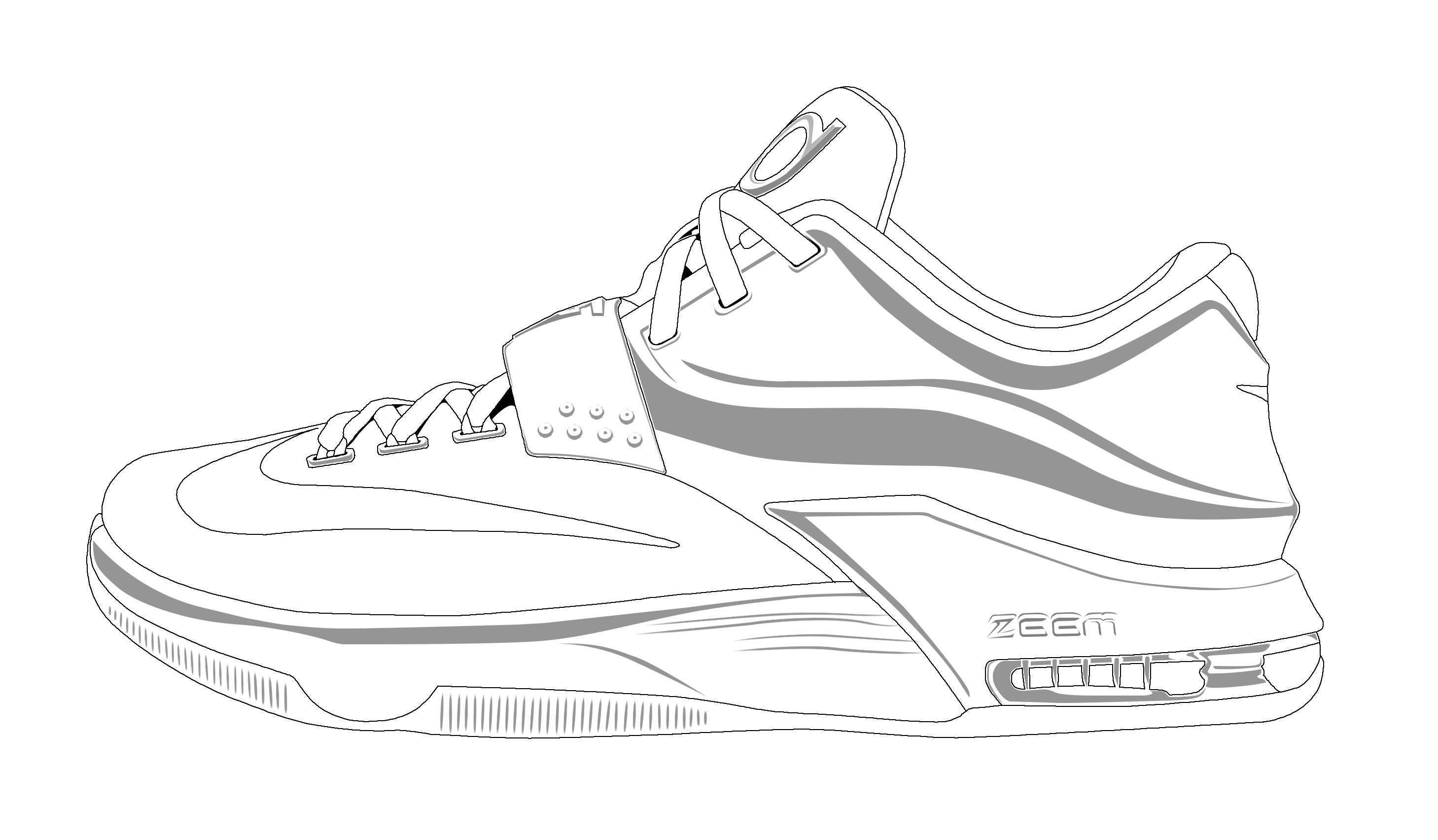 Vans Shoes Coloring Pages At Getdrawings