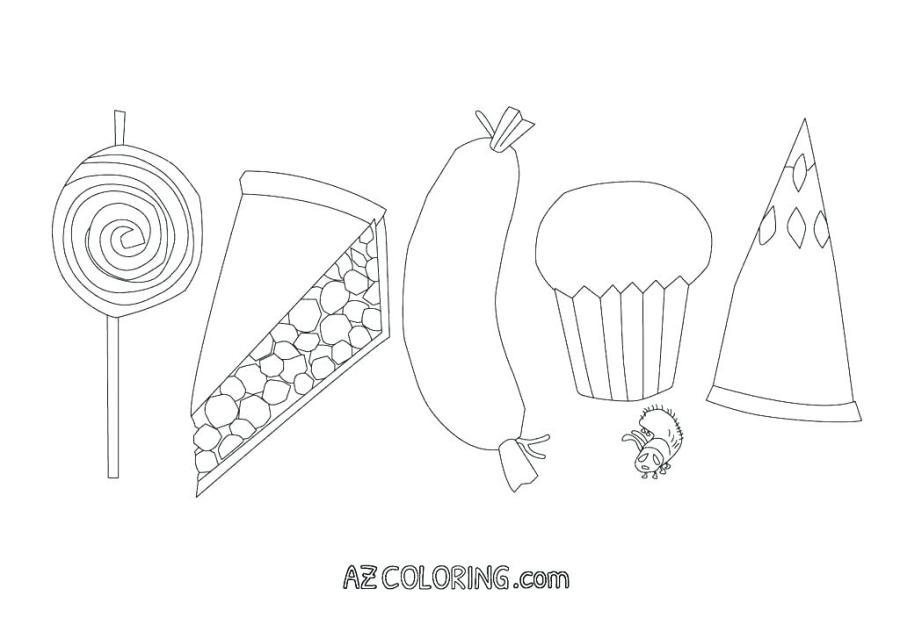 Very Hungry Caterpillar Coloring Page at GetDrawings ...