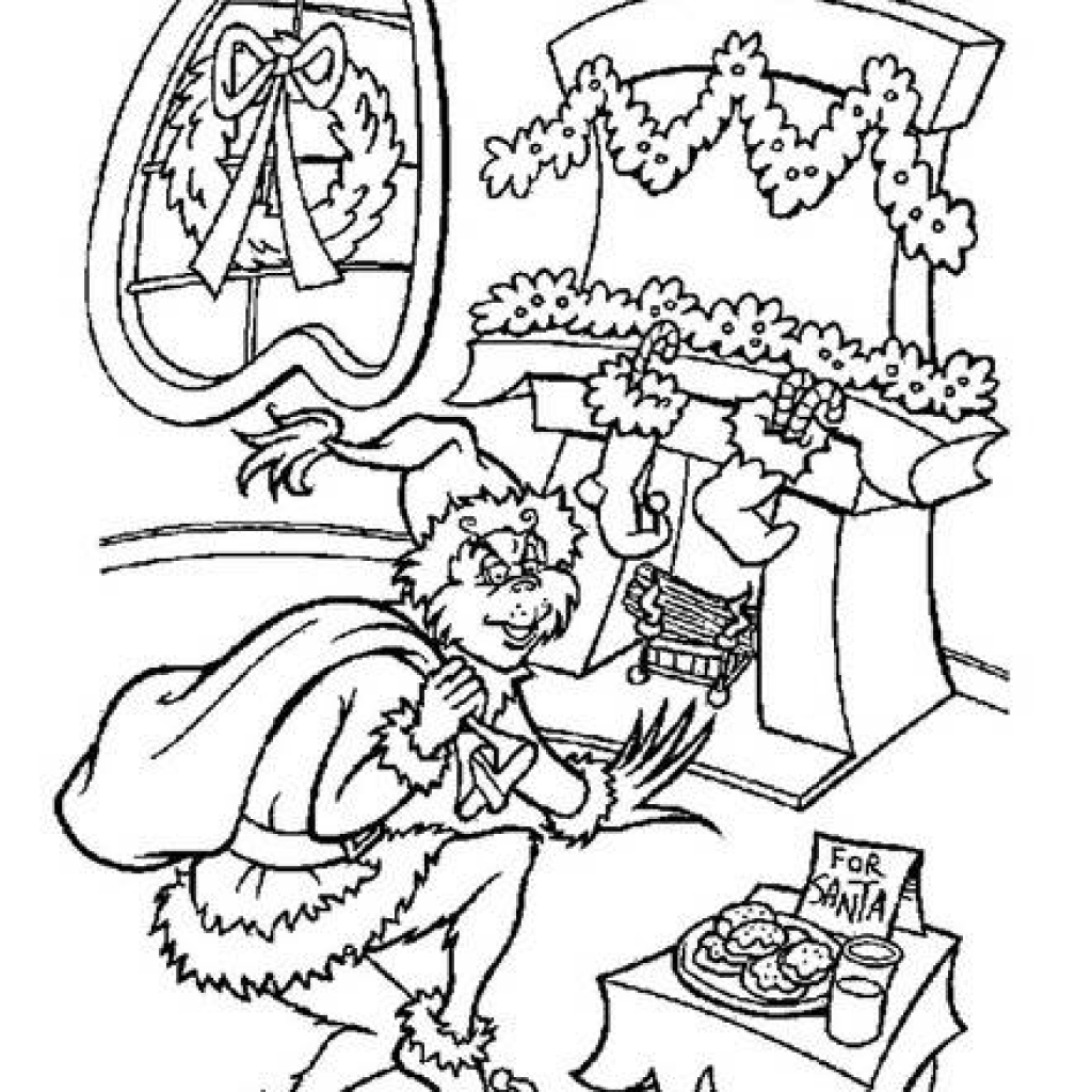 The Best Free Grinch Coloring Page Images Download From