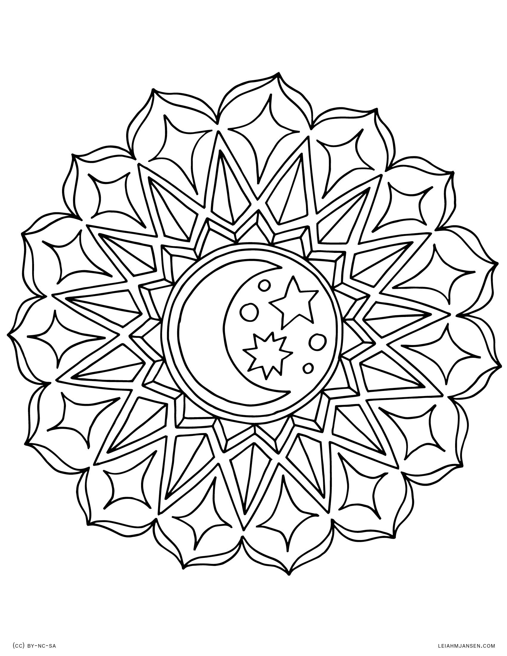 Yin Yang Mandala Coloring Pages At Getdrawings