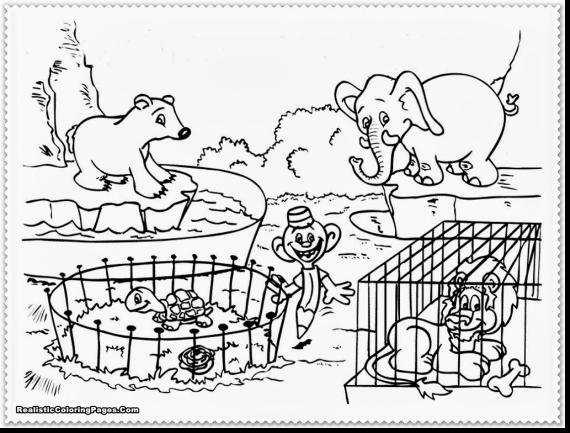 Zoo Animal Coloring Pages At Getdrawings