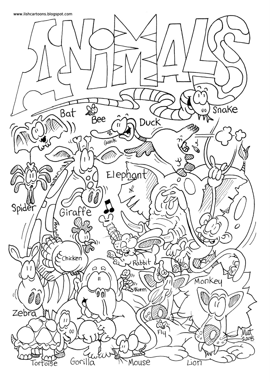 Zoo Animal Coloring Pages For Preschool At Getdrawings
