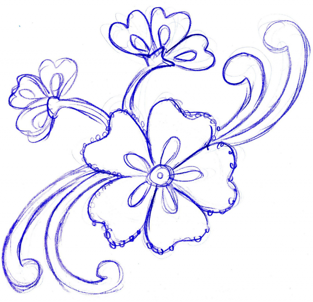 Beautiful Flower Drawing At Free For