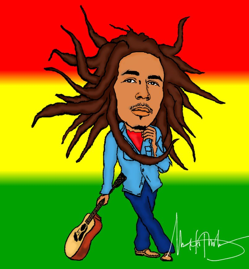 Bob Marley Cartoon Pictures Djiwallpaperco