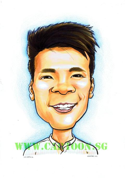 how to draw a self portrait cartoon