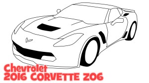Chevrolet Corvette Drawing at GetDrawings | Free for