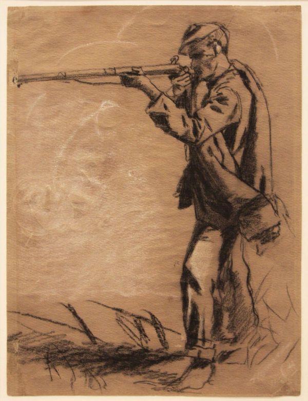 Civil War Soldier Drawing at GetDrawings   Free download
