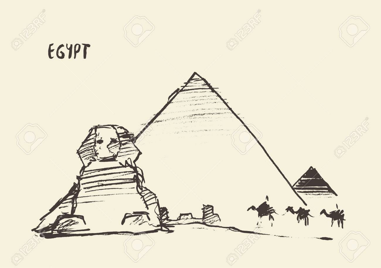 Egyptian Sphinx Drawing At Getdrawings