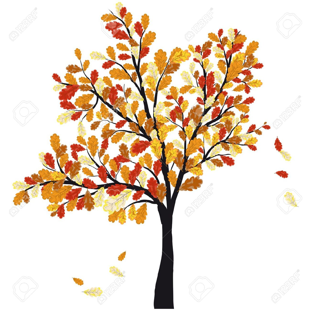 Fall Tree Drawing At Getdrawings