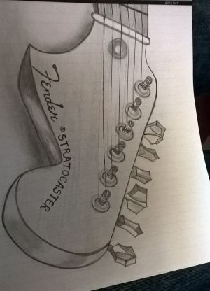 Fender Stratocaster Drawing at GetDrawings | Free for