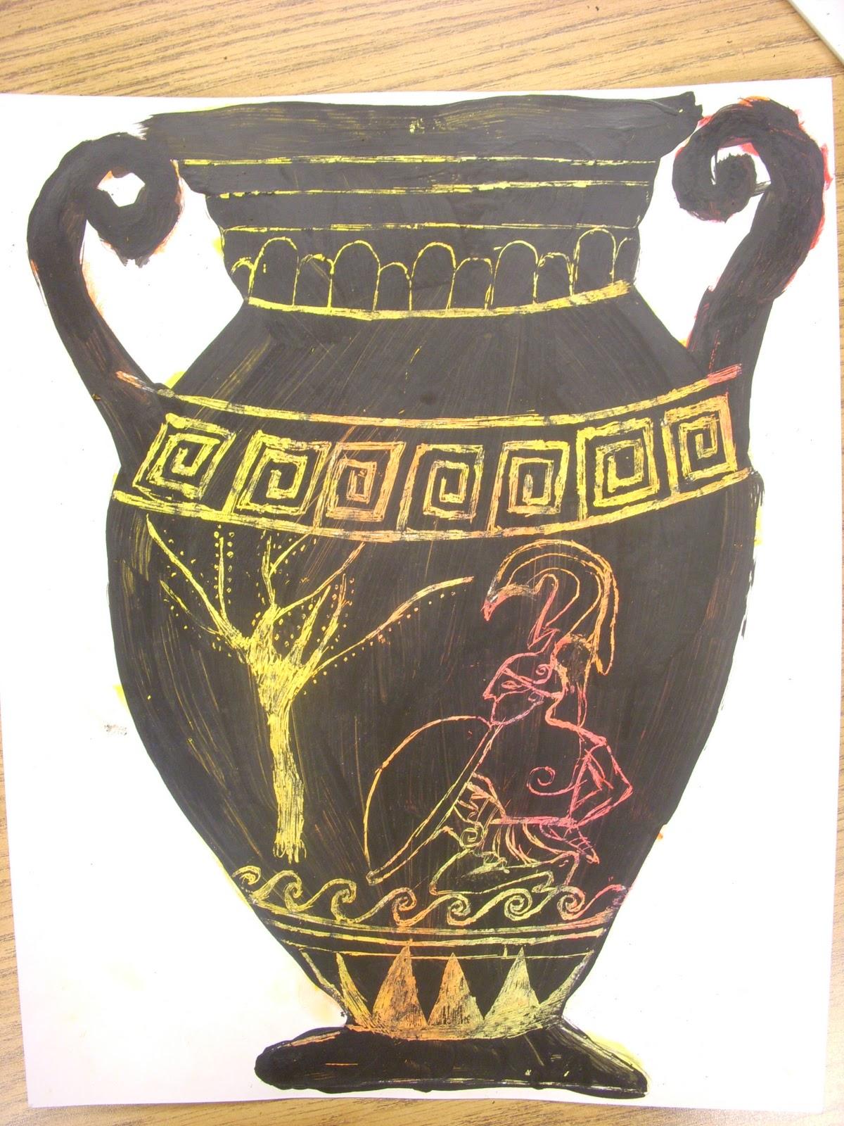 Greek Vase Drawing At Getdrawings
