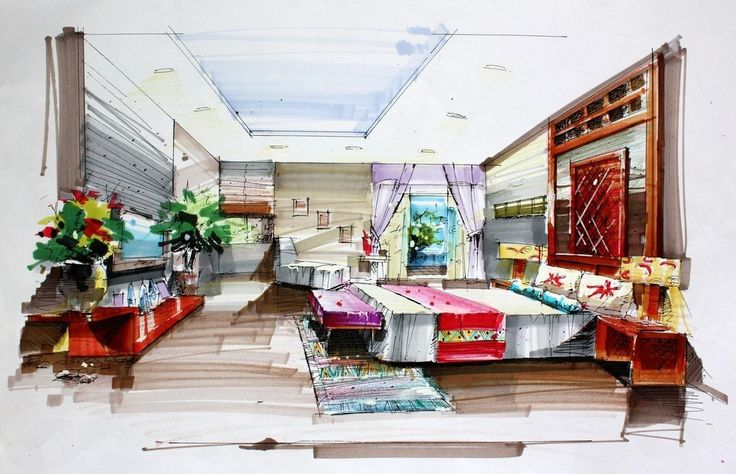 Interiors Drawing at GetDrawings com   Free for personal use     736x474 Drawing Interior Design Home Interior Design Ideas Awesome house