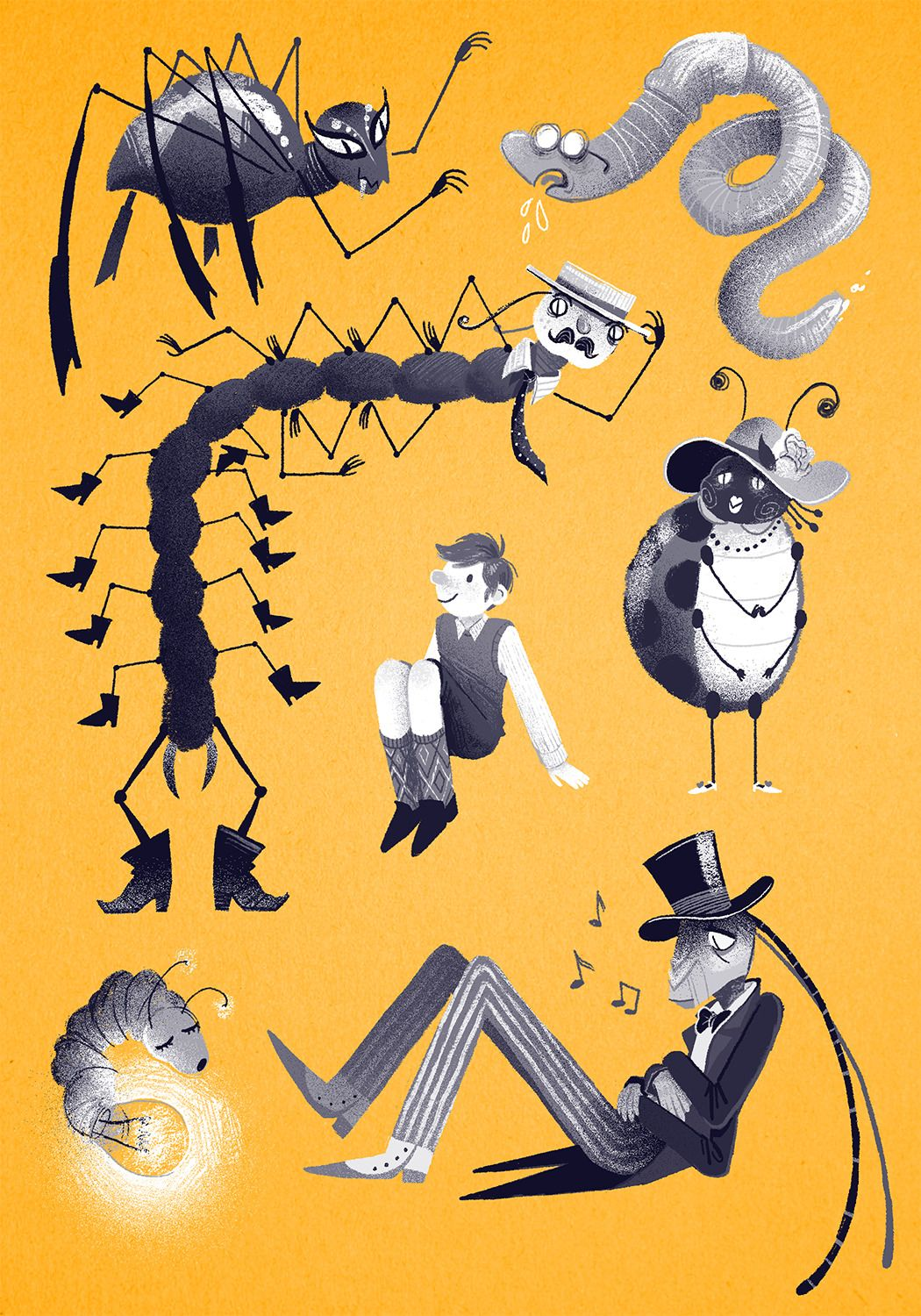James And The Giant Peach Drawing At Getdrawings