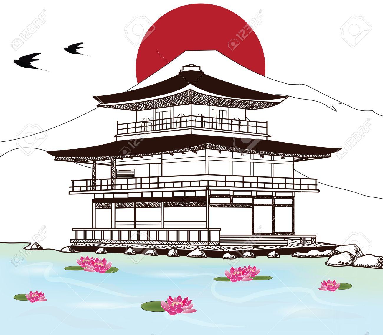Japanese Pagoda Drawing At Getdrawings
