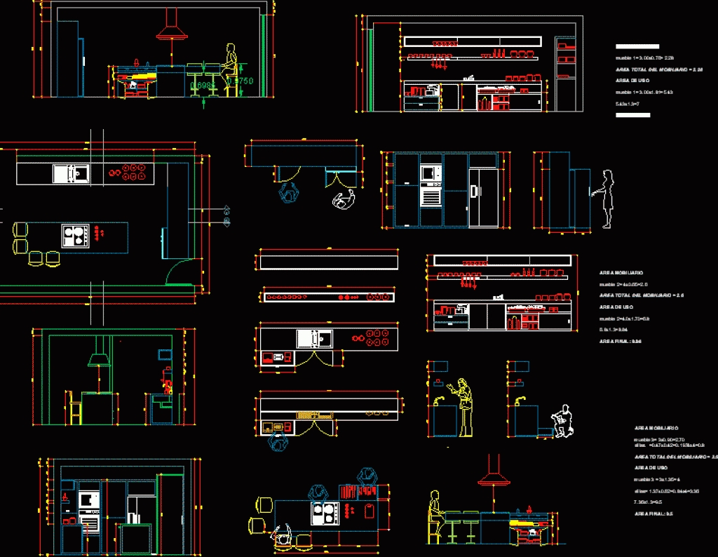 Kitchen Autocad Drawing At Getdrawings Com Free For
