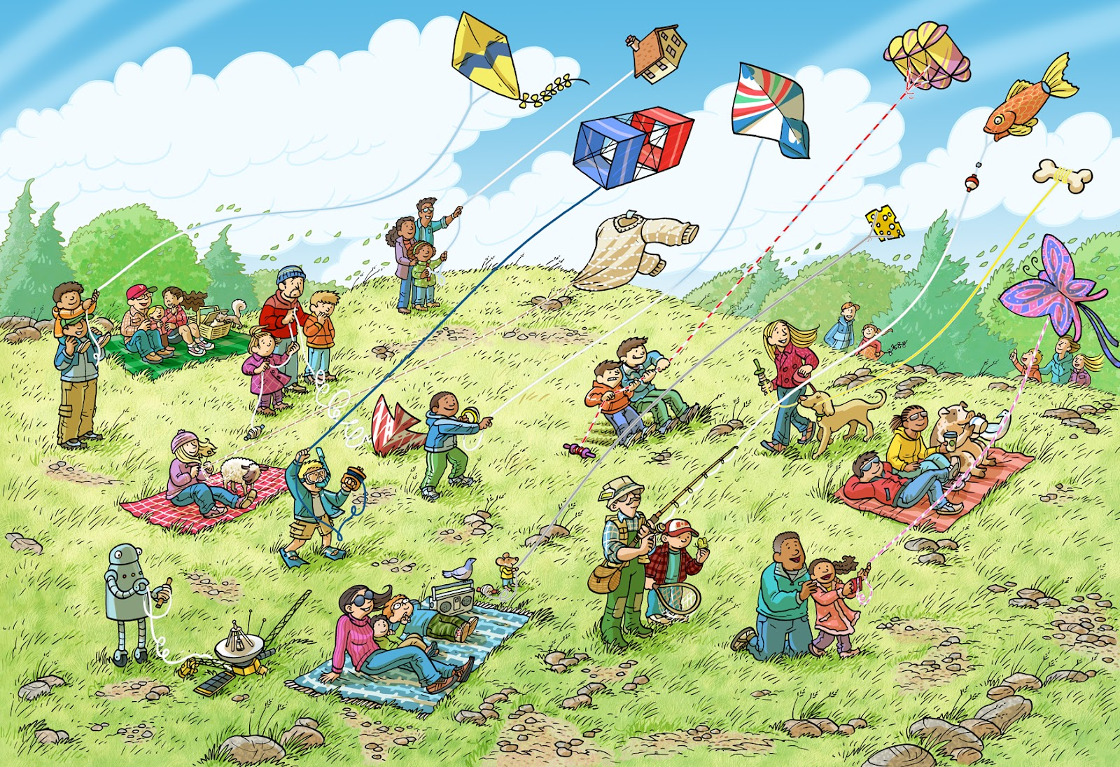 Kite Flying Drawing At Getdrawings
