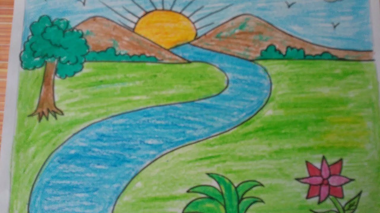 Drawing house form shapes easy acrylic painting coloring for kids#gopicture#babycolors#babydraw#funkeepart, #betainangtv, #tobiart, #drawapicture#drawapictur. Landscape Simple Drawing at GetDrawings   Free download