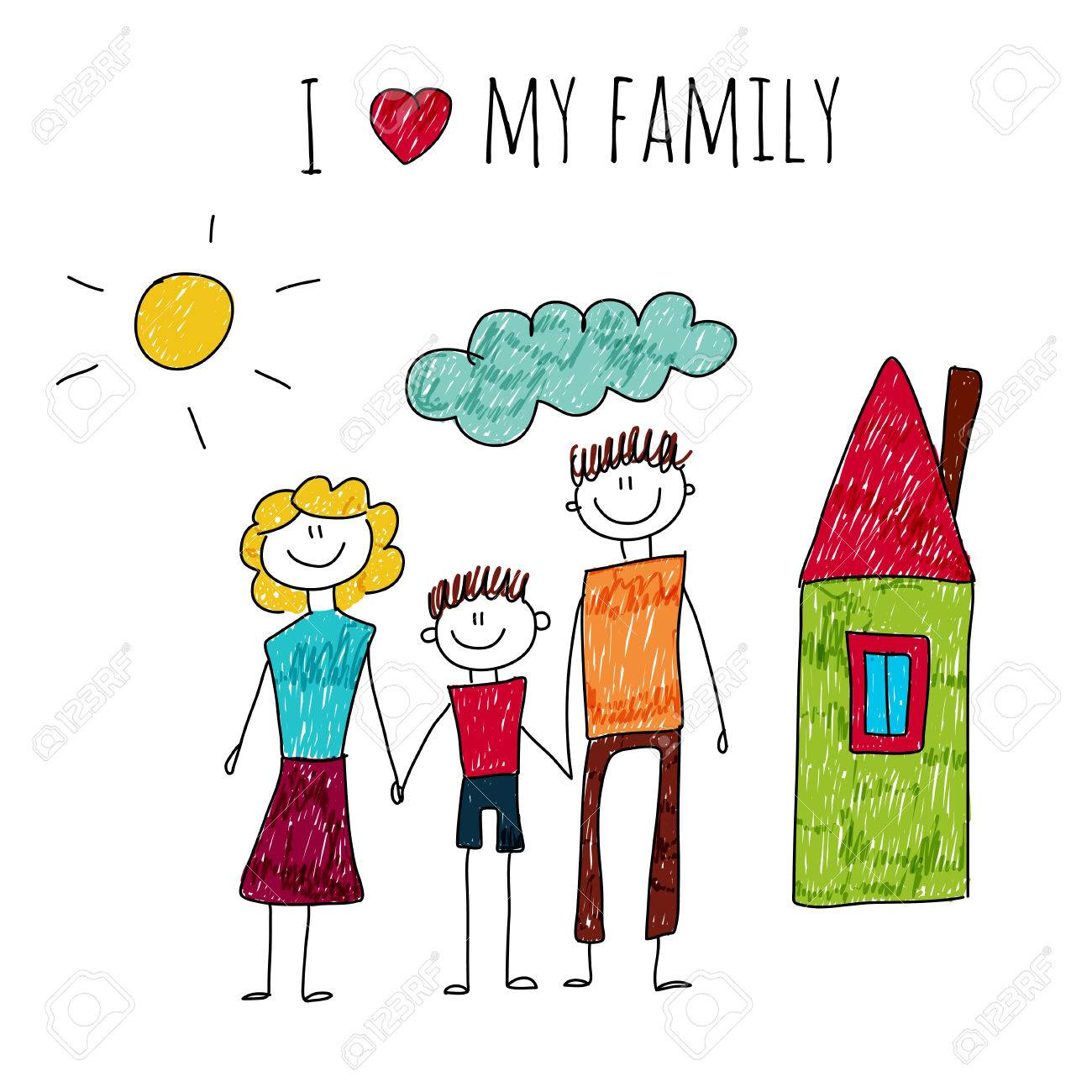 My Family Drawing At Getdrawings