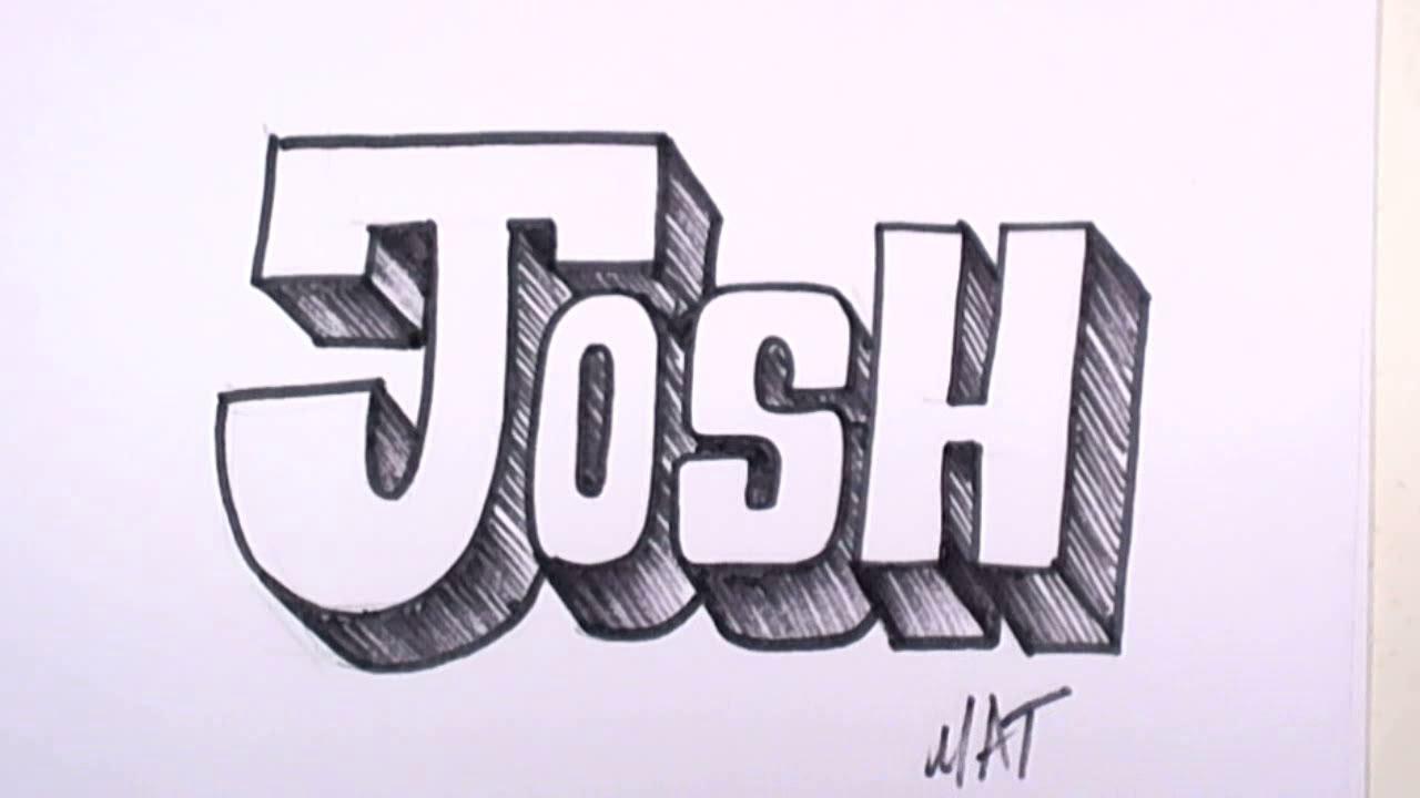 Josh Coloring Names Pages Graffiti