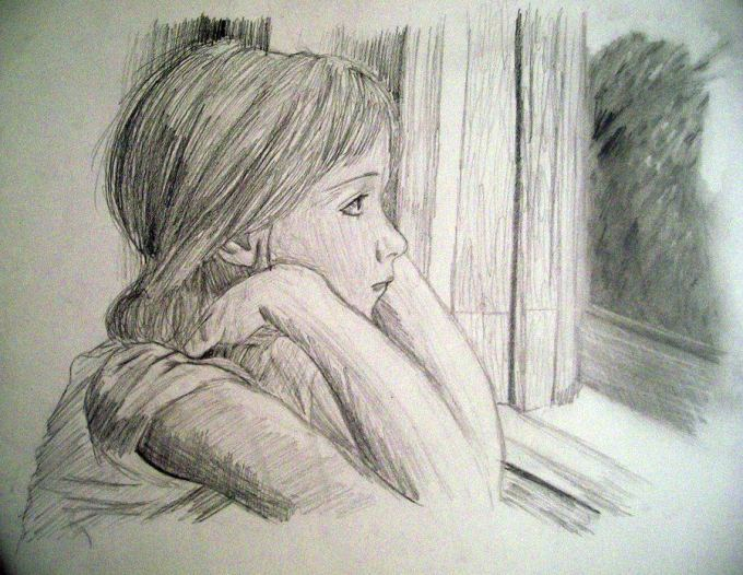 sad girl drawing at getdrawings com free for personal use