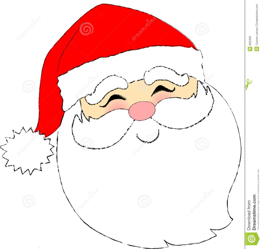 santa claus face drawing at getdrawings  free download