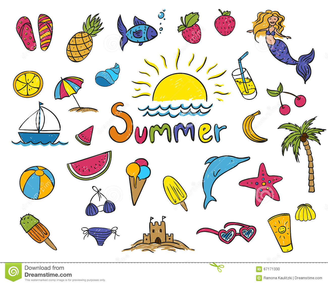 Summer Drawing For Kids At Getdrawings