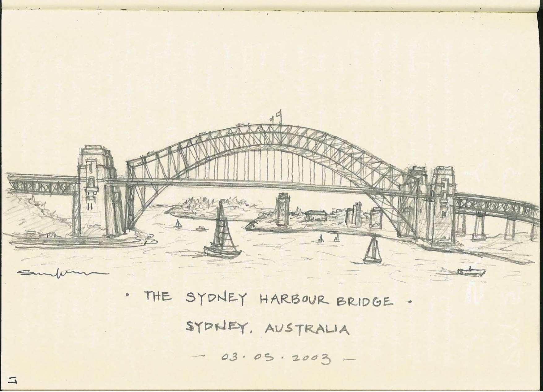 Sydney Harbour Bridge Drawing At Getdrawings