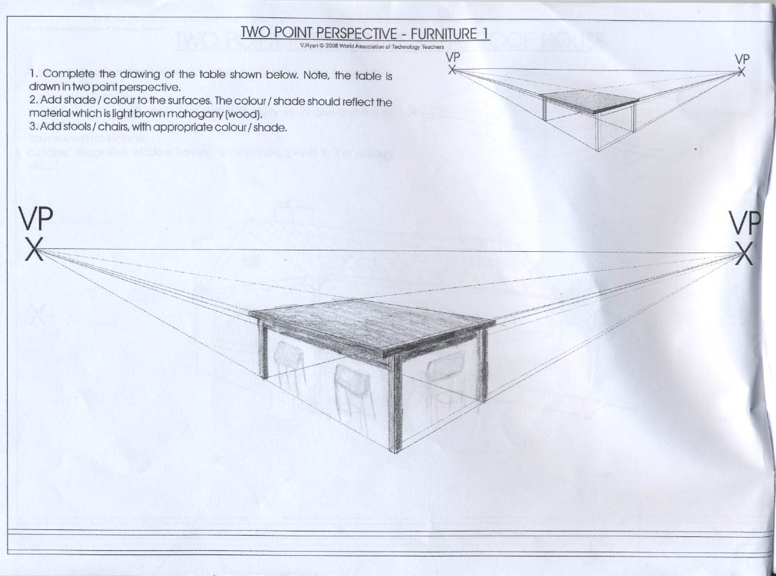 Table Perspective Drawing At Getdrawings