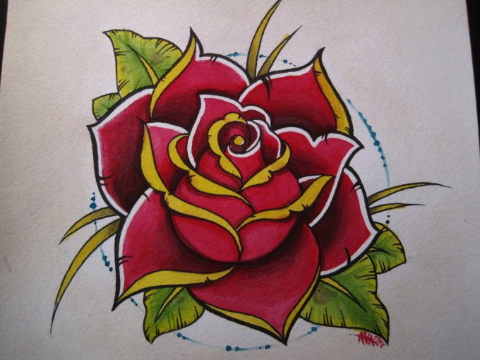 How To Draw Traditional Rose Flash Anexa Tutorial