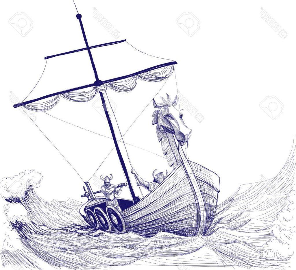 Viking Boat Drawing At Getdrawings
