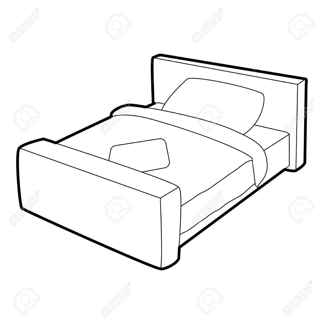 3d Bed Drawing At Getdrawings