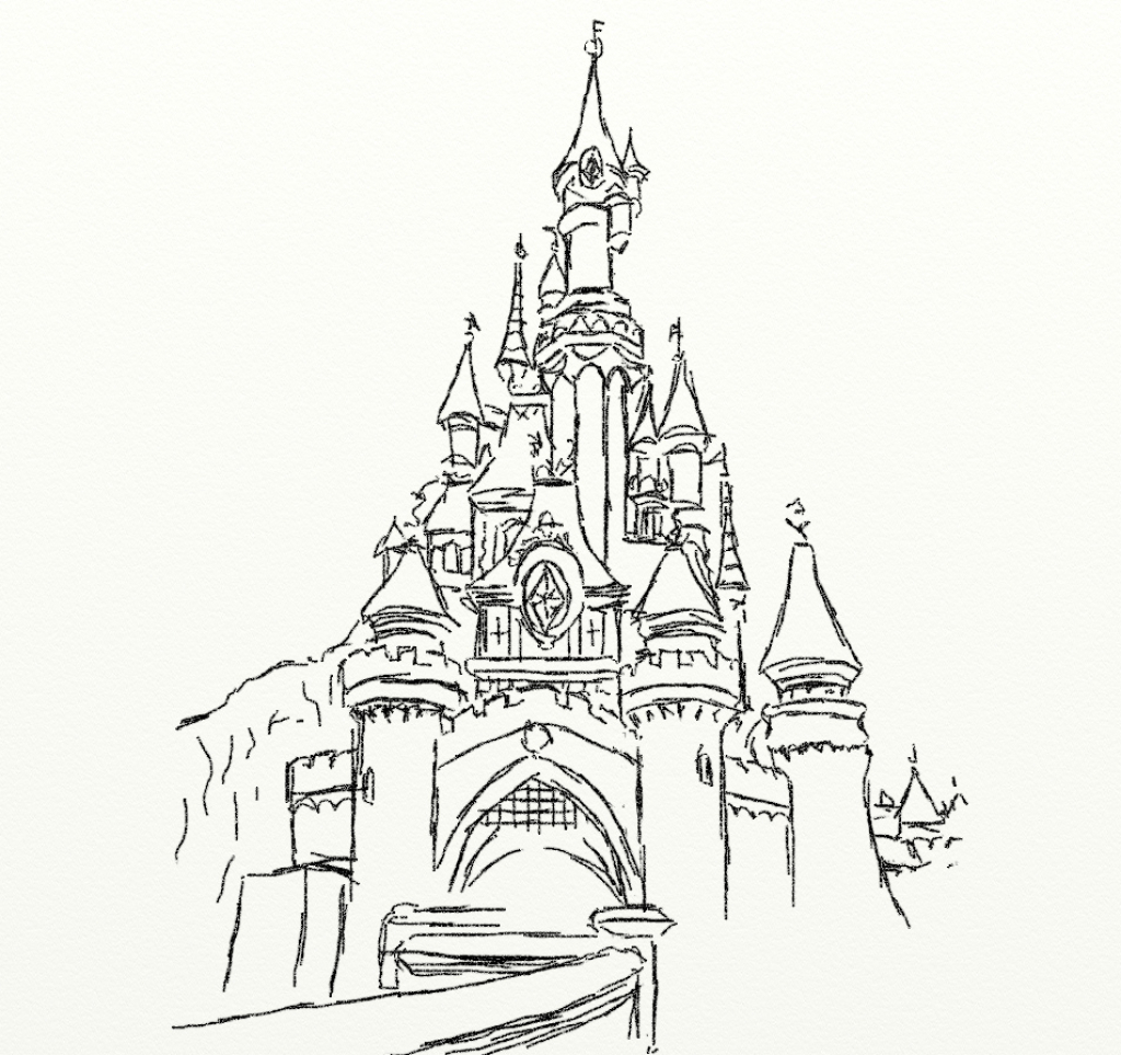 3d Castle Drawing At Getdrawings