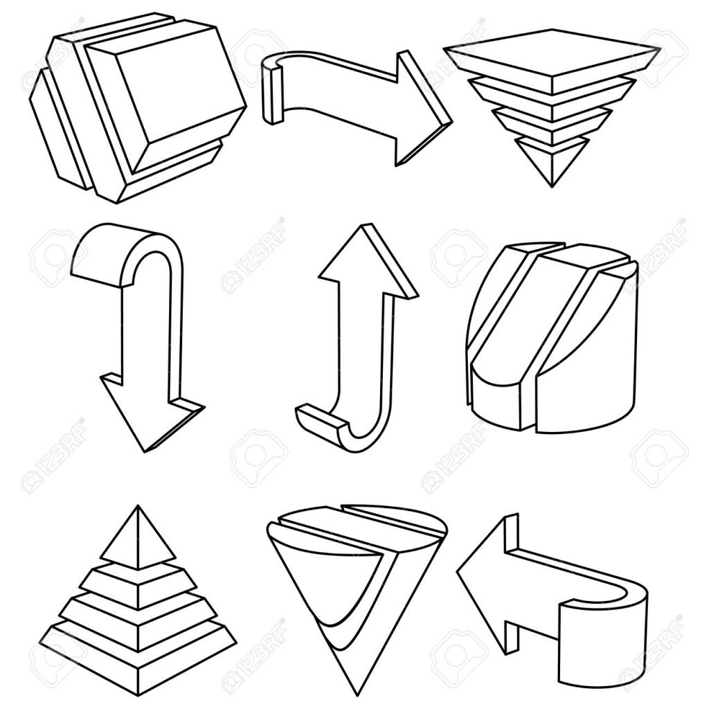3d Geometric Drawing At Getdrawings
