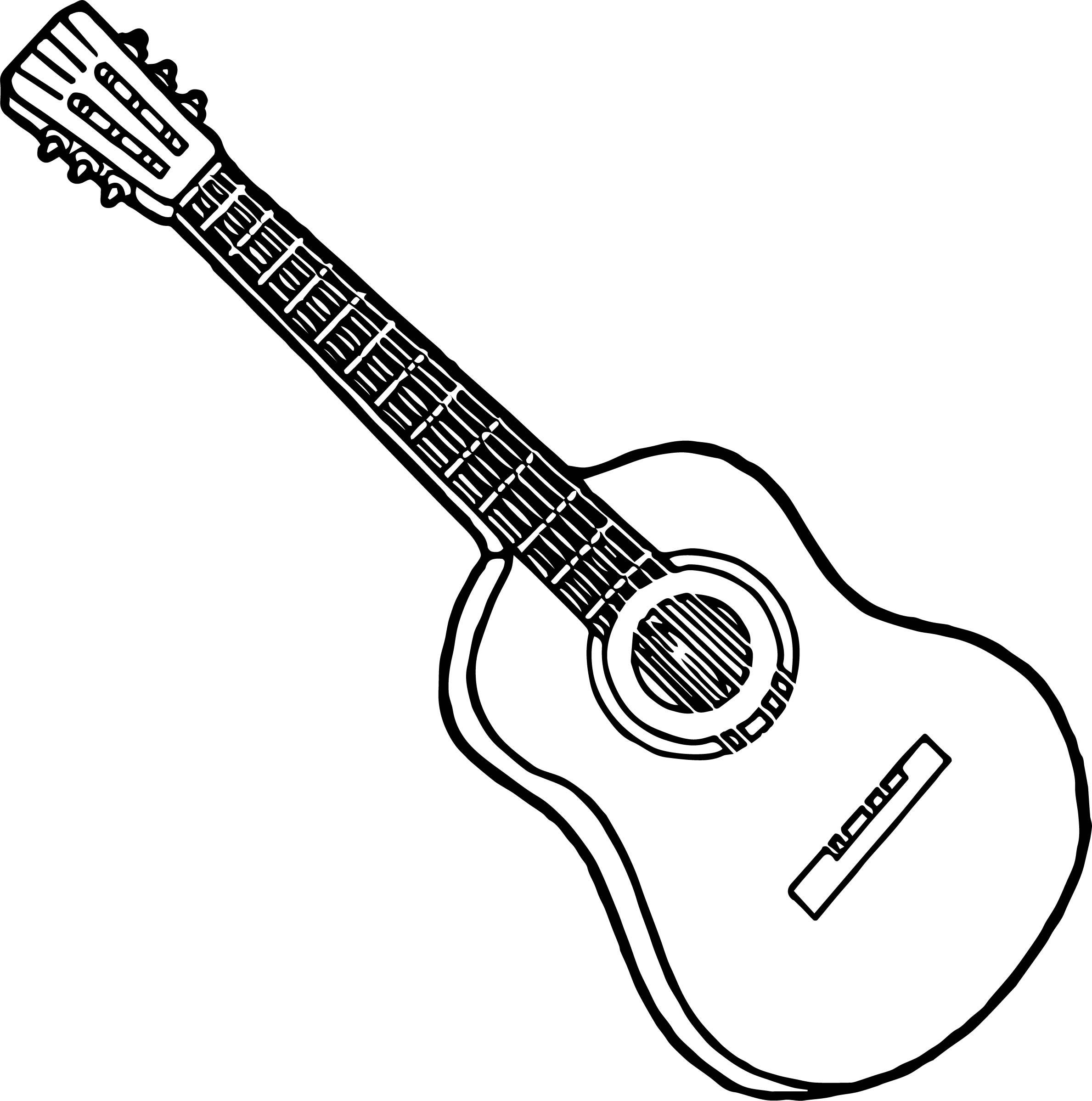 Acoustic Guitar Line Drawing At Getdrawings