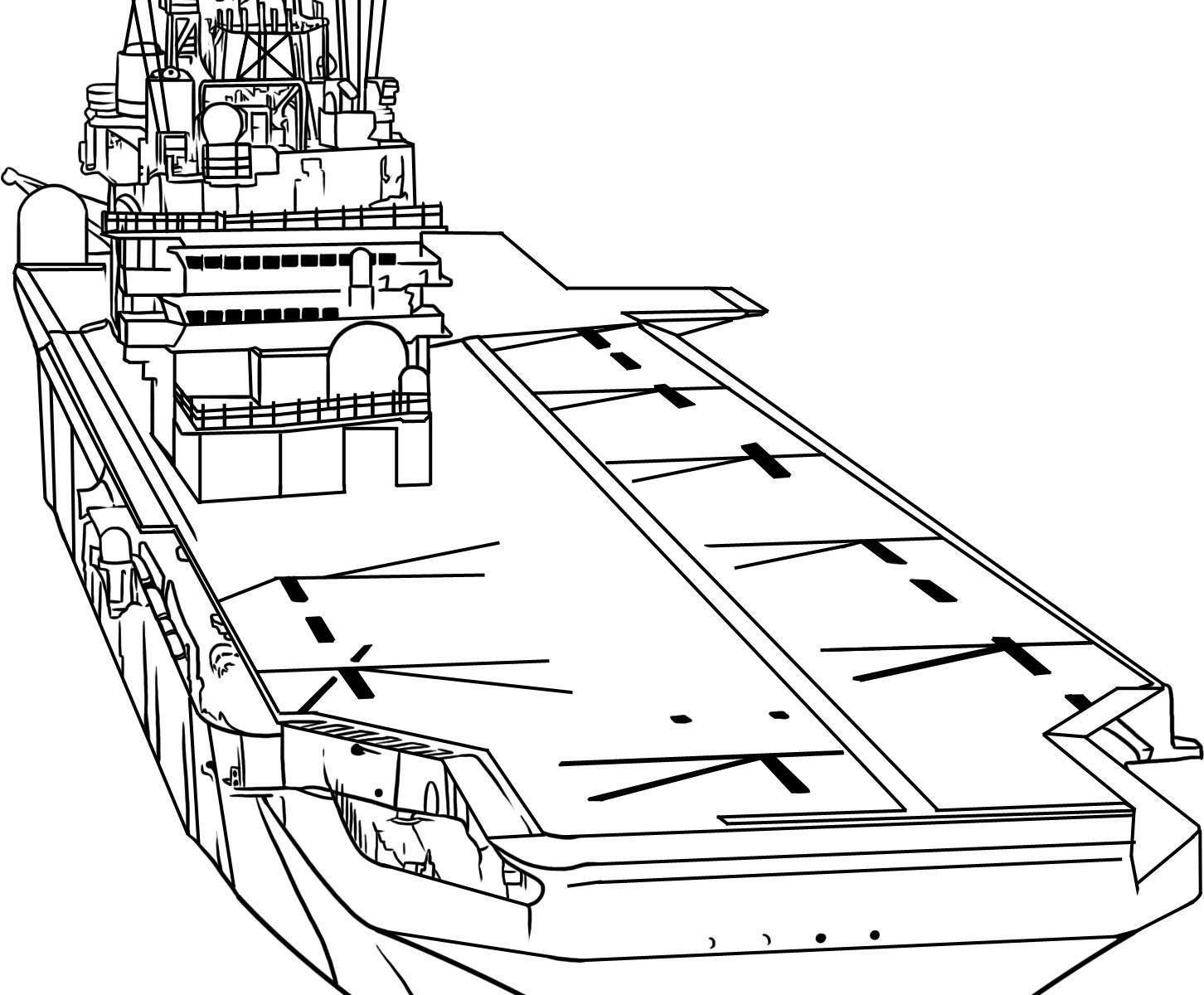 Aircraft Carrier Drawing At Getdrawings