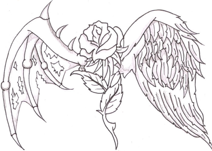 angels wings drawing at getdrawings  free download