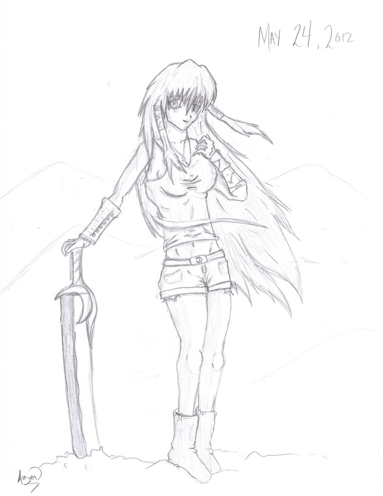 anime female drawing at getdrawings  free download