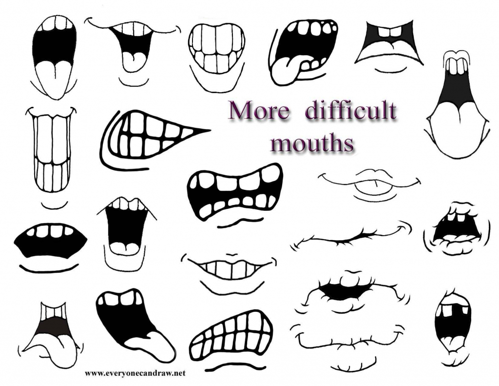 Anime Mouth Drawing At Getdrawings
