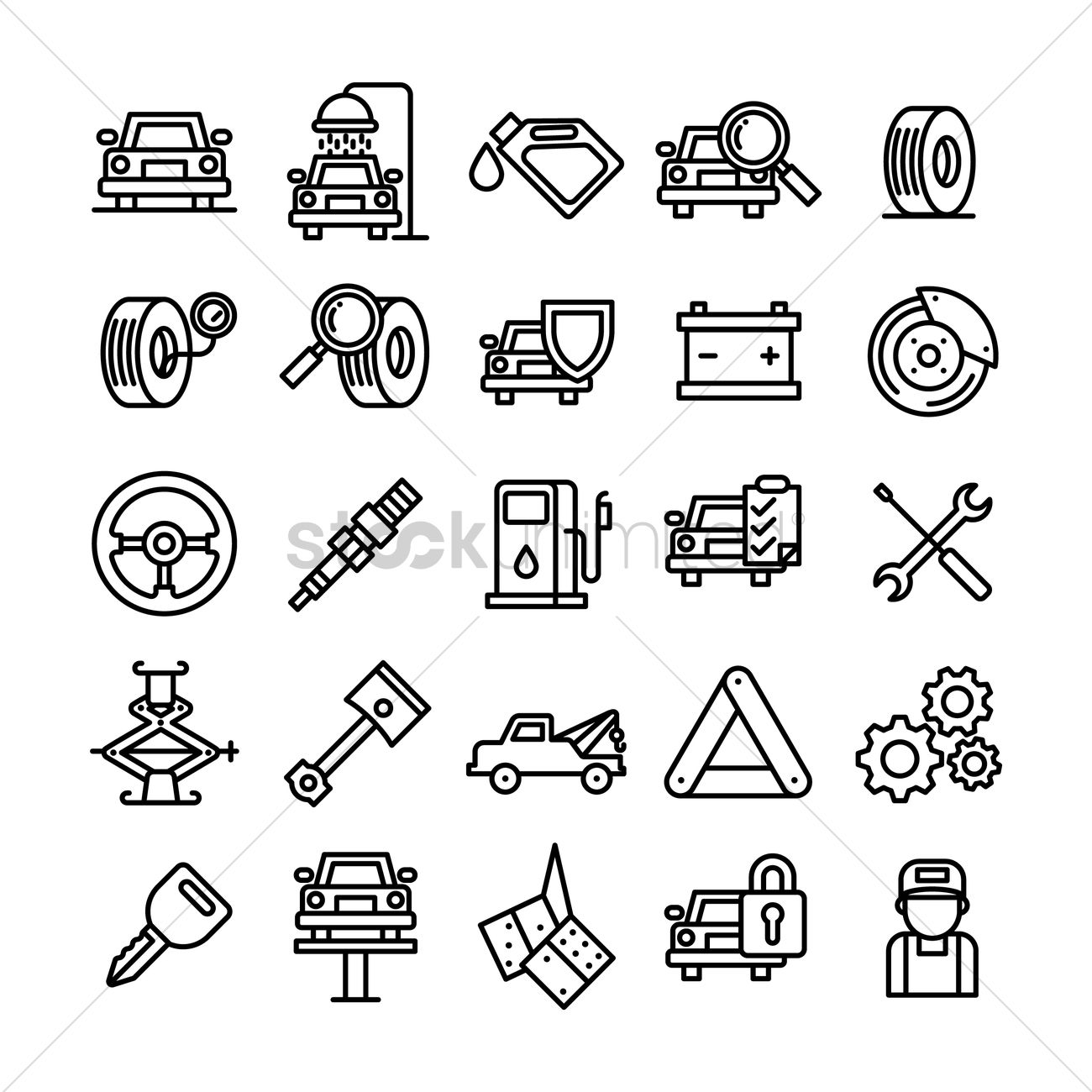 1300x1300 collection of car service and auto parts vector image