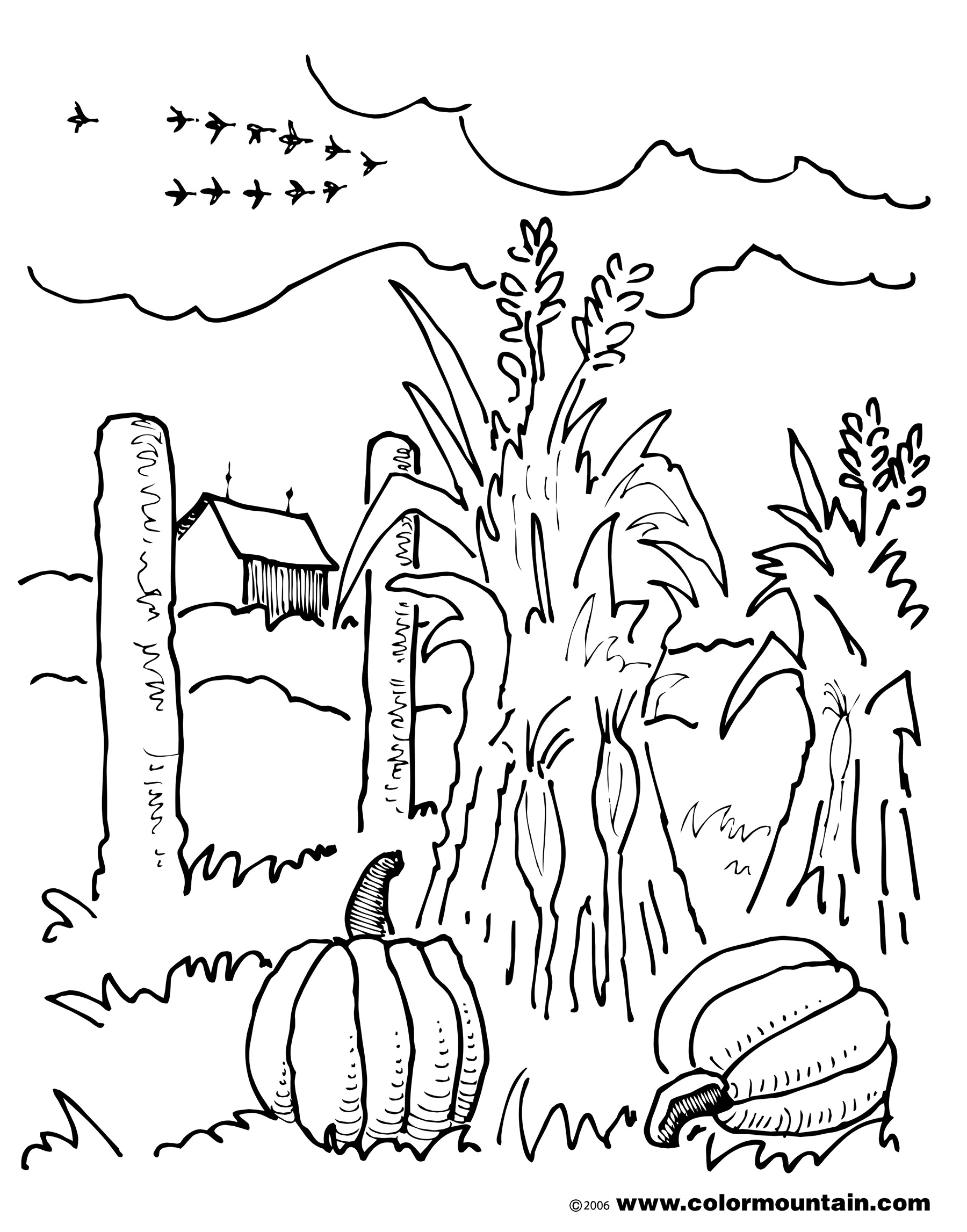 Autumn Scene Drawing At Getdrawings