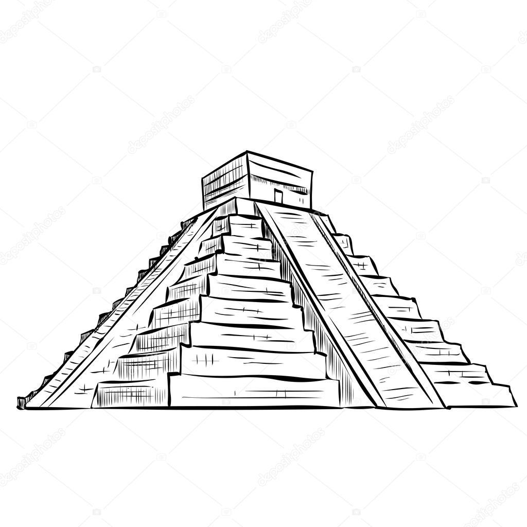 Aztec Pyramid Drawing At Getdrawings