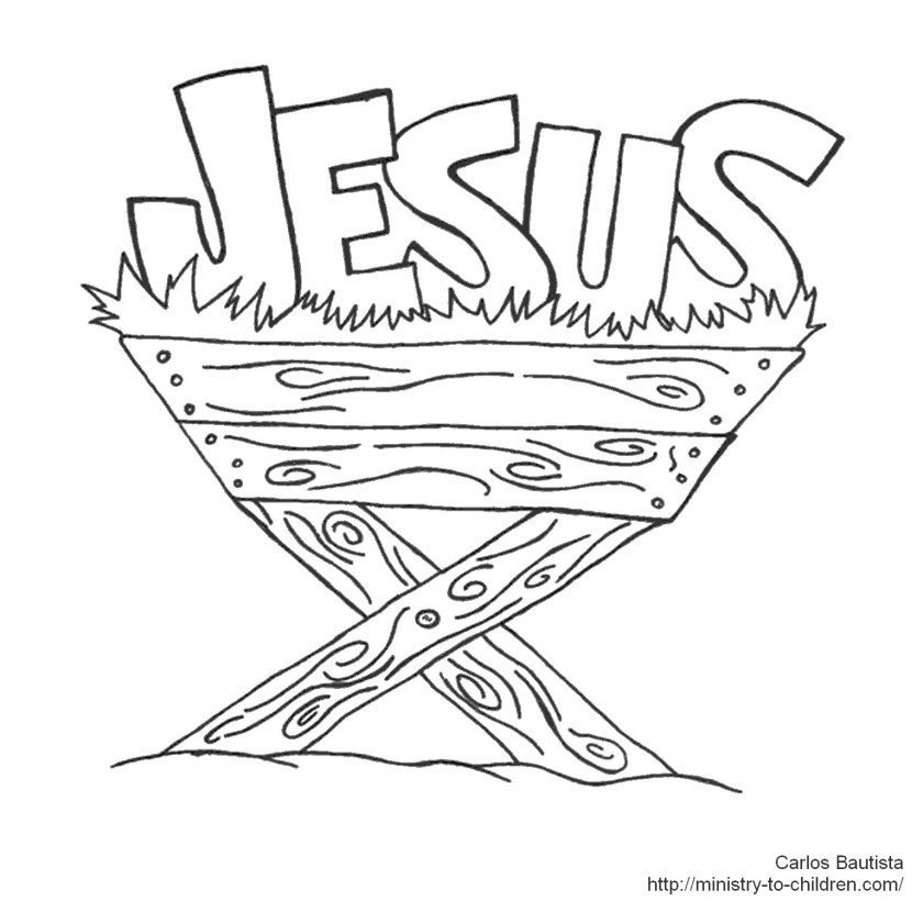 baby jesus in manger drawing at getdrawings  free download