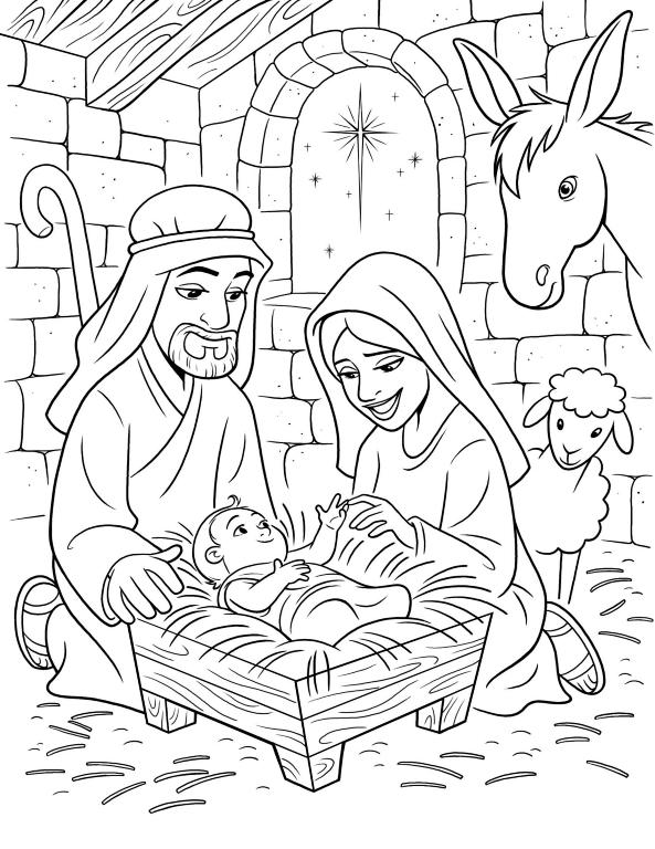 Baby Jesus Manger Drawing Novocom Top